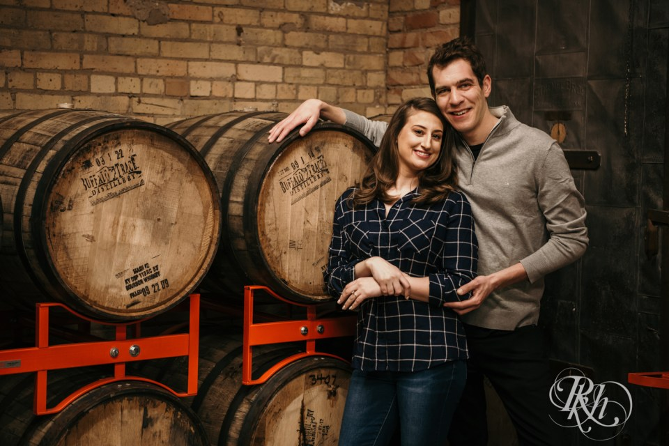 brewery engagement photography