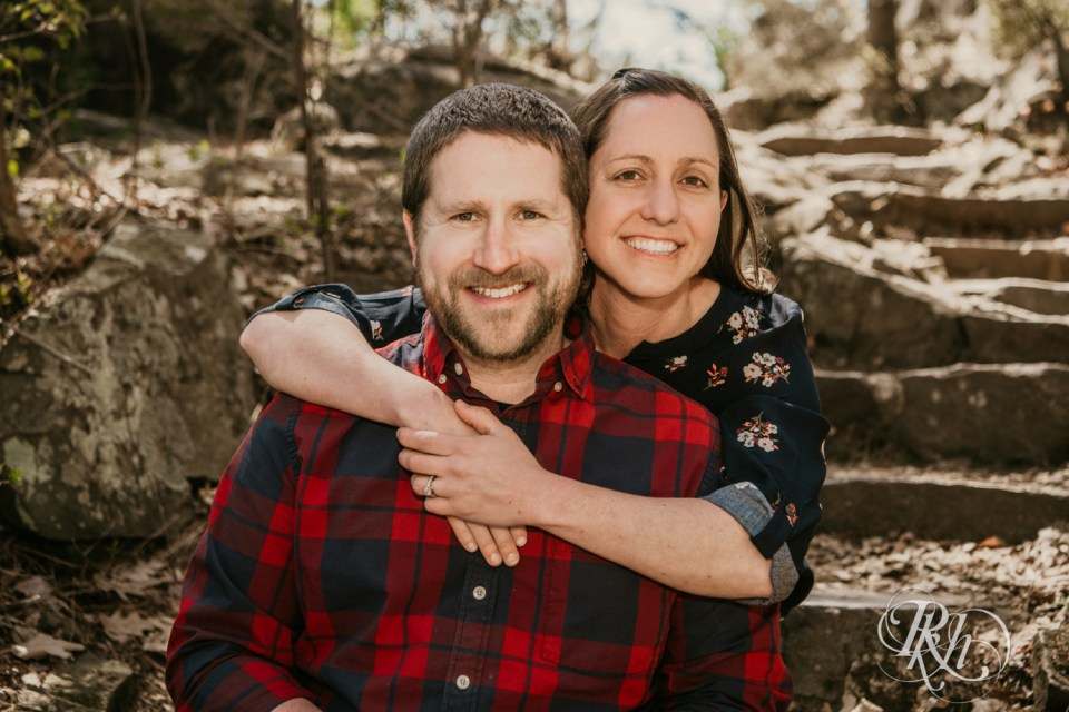 engagement photography couple flannel