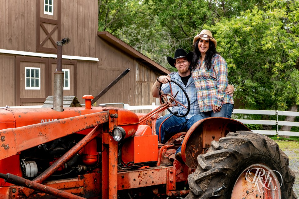 engagement photography tractor