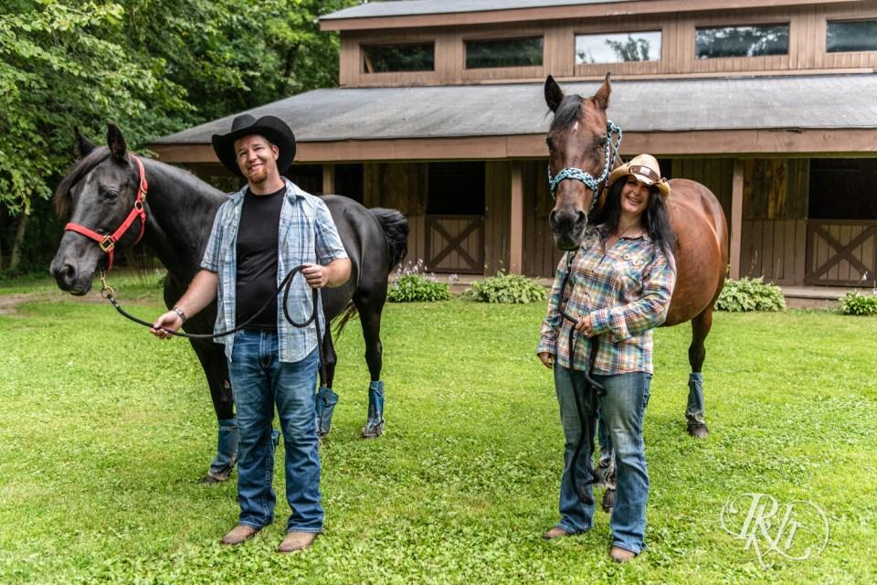 horse farm engagement photography