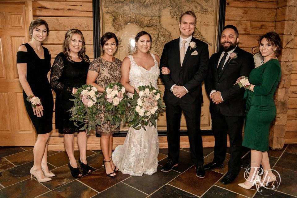 Cabin Wedding party