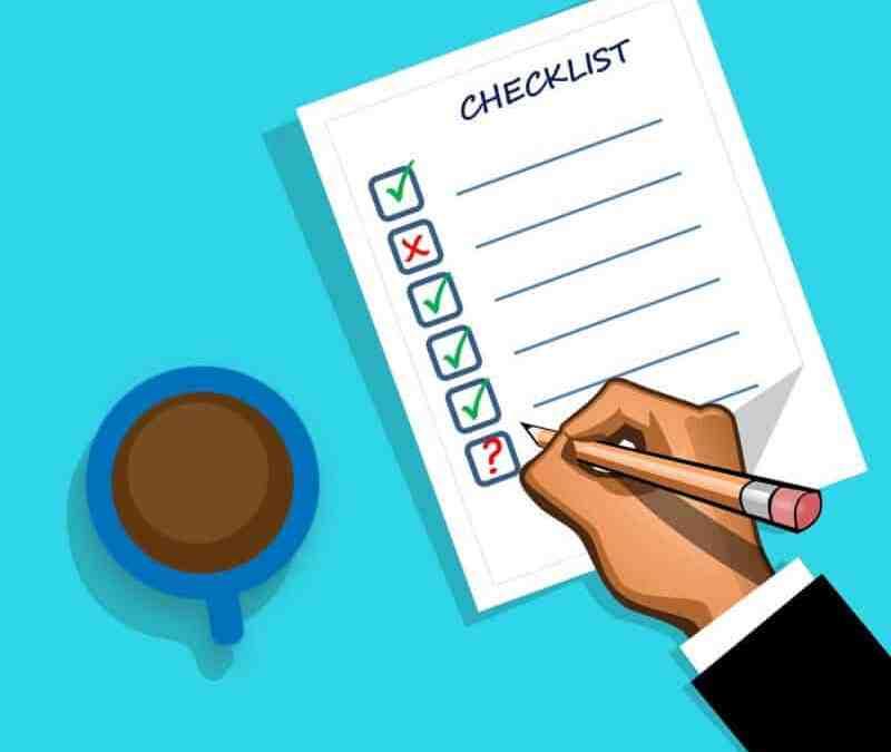 Checklist for Executors