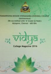 Vidya – college magazine 2016