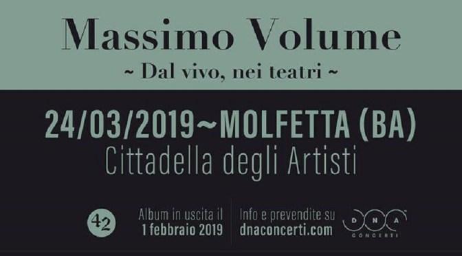 Massimo Volume in concerto! Domenica 24 marzo alla Cittadella degli Artisti di Molfetta