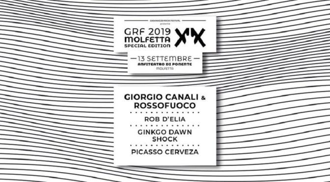 La festa del Grf per i 20 anni continua e va a Molfetta. Sul palco Giorgio Canali & Rossofuoco