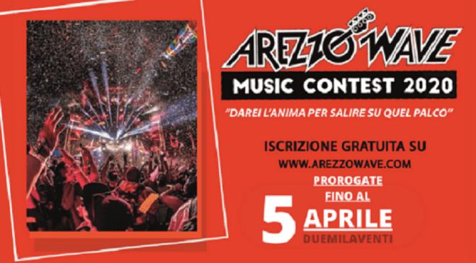 La musica non si ferma: prorogate le iscrizioni ad Arezzo Wave Music Contest 2020
