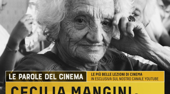 """Cecilia Mangini ed Ettore Scola protagonisti della rassegna """"LE PAROLE DEL CINEMA"""" sulcanale YouTube di Apulia Film Commission"""
