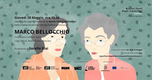 """MARCO BELLOCCHIO IN DIRETTA STREAMING alle 19:00 PER """"REGISTI FUORI DAGLI SCHE[R]MI"""" VERSIONE ONLINE"""