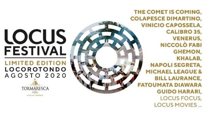 Grande successo in prevendita del Locus Festival 2020. Sold out per Niccolò Fabi e Vinicio Capossela il 7 e 8 agosto a Egnazia. Si aggiunge un nuovo concerto e si cambia location per la festa conclusiva di ferragosto.