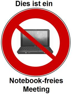 Notebook-freies Meeting