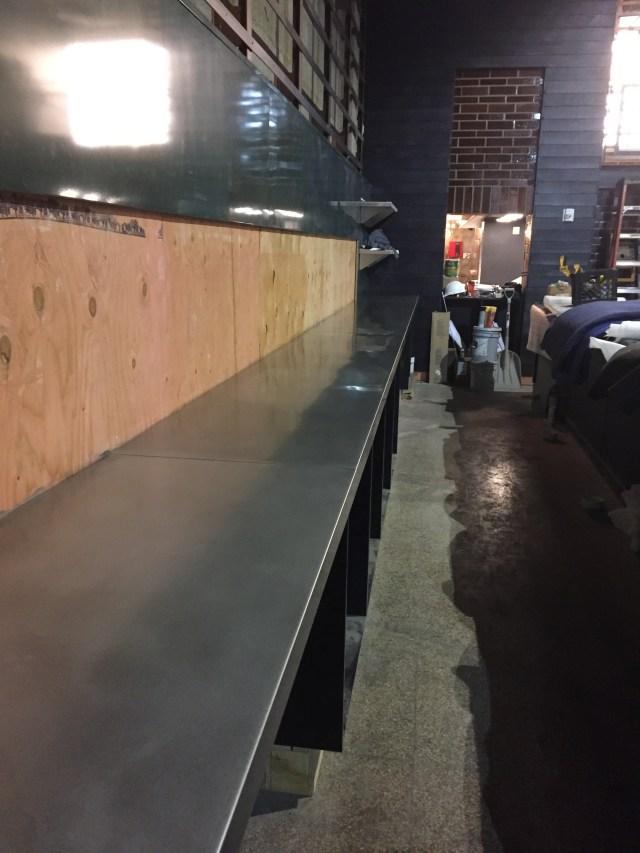 Custom Zinc Countertops with a Custom Finish