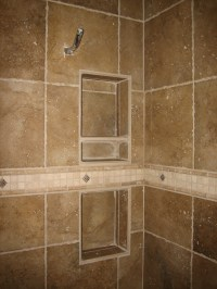 Do It Yourself Recessed Tile Shelves for Showers | Bathroom