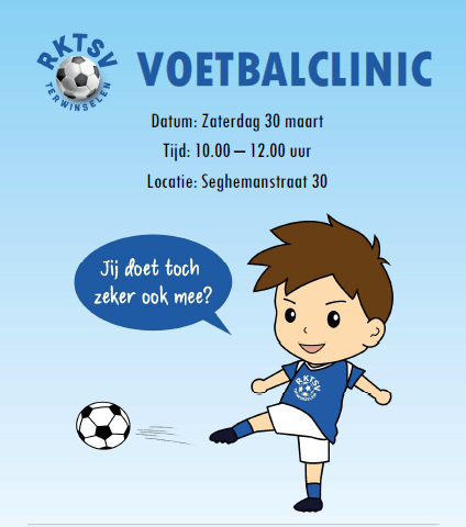 Voetbalclinic voor jeugd