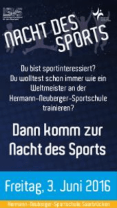 Plakat Nacht des Sports