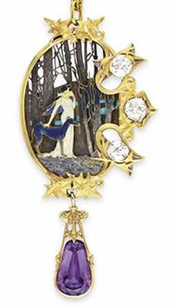 Rene Lalique Jewelry Pendant