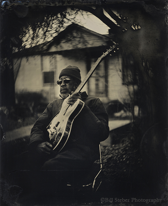 Tintype of R.L Boyce at his home in Como, MS. photo by Bill Steber