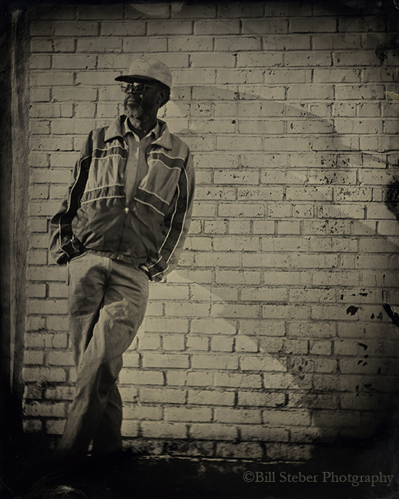 Tintype of RL Boyce in downtown Clarksdale, MS. photo by Bill Steber
