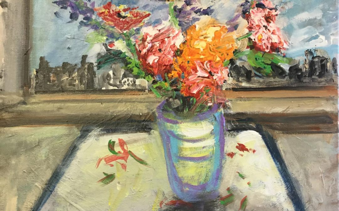 Flowers on Table 16 X 20 1
