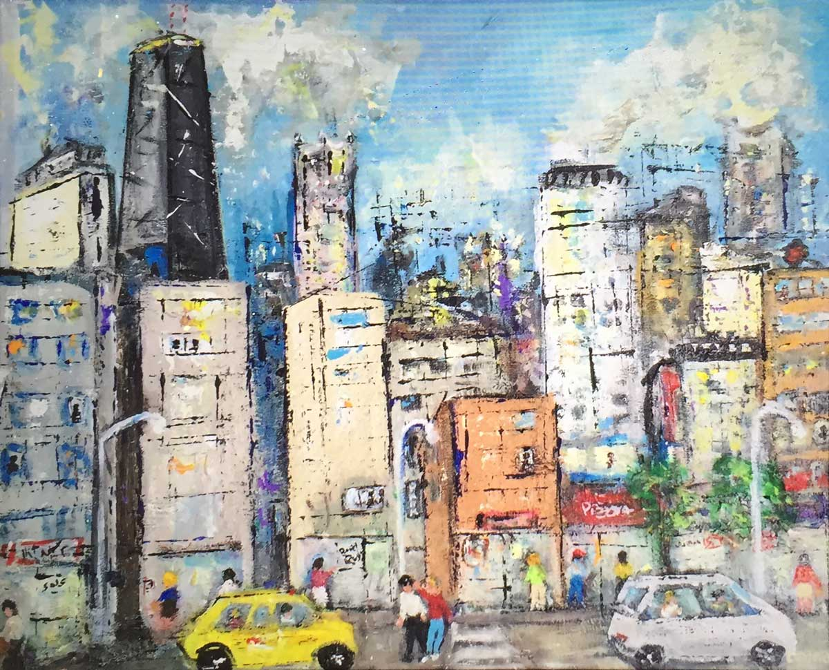Rush Hour - Yellow Taxi, Chicago 16 X 20