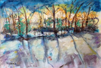 Winter Woods Michigan