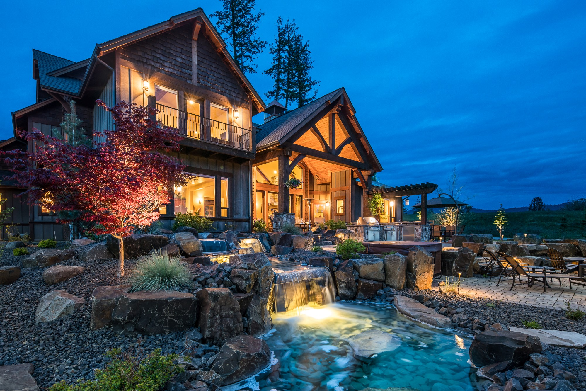 The Falls at Hayden Lake Luxury Real Estate  RL Miller PhotographyRL Miller Photography