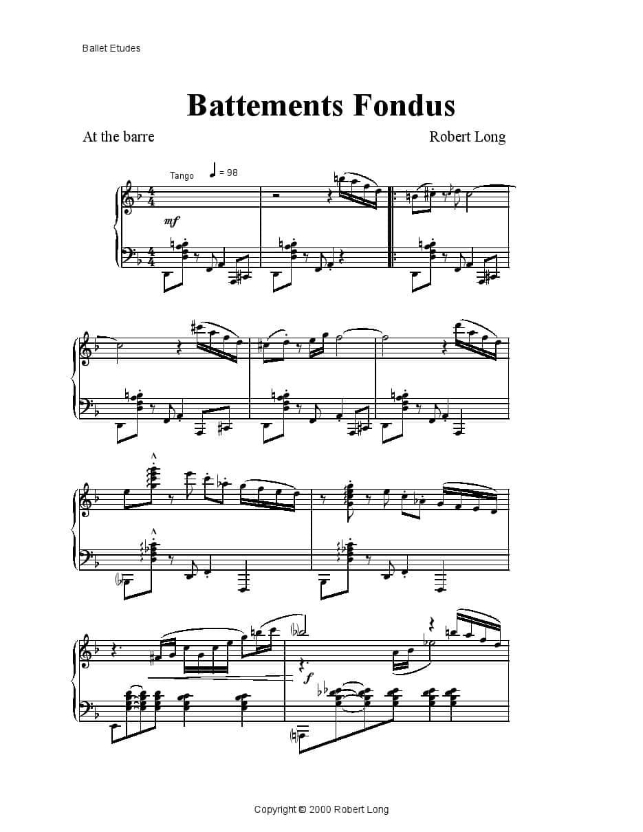 PDF Propositions de musiques pour la Danse (classique)