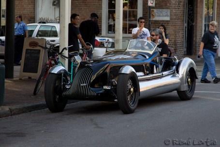 """Une voiture entièrement """"custom made"""". Une des extravagances qu'on peut voir à New Orleans."""