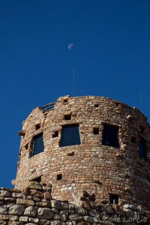 Desert View - la tour le matin vers 7h30 - Grand Canyon, Arizona