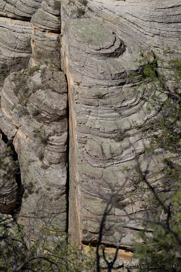 Formations rocheuses à Walnut Canyon
