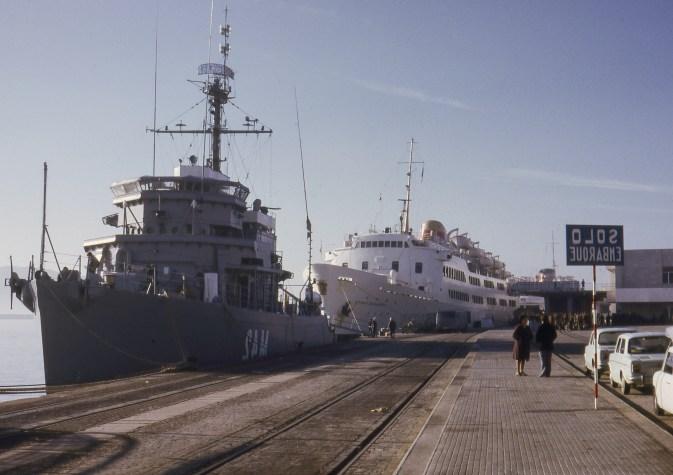 Au port d'Algeciras d'où nous partirons pour le Maroc.