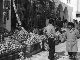 Marché d'agrumes à Tunis