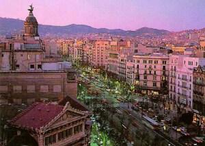 Vue de Barcelone à partir de l'hôtel. (photo : Hostal Oliva)
