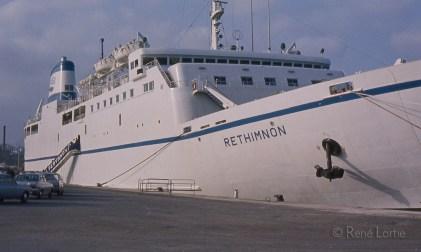 Le traversier Rethimnon qui nous emmène Crète