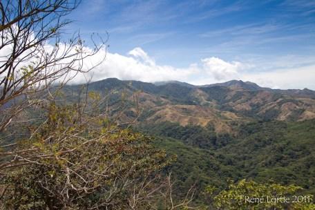 Paysage sur la route de Monteverde