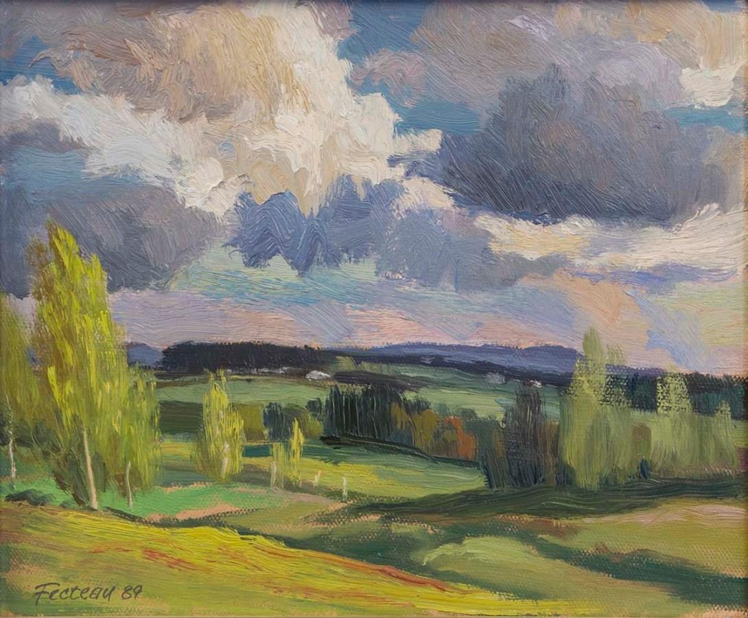Chesterville, face à la maison de l'artiste 1989