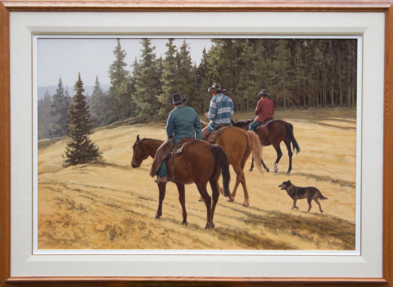Returning riders - framed