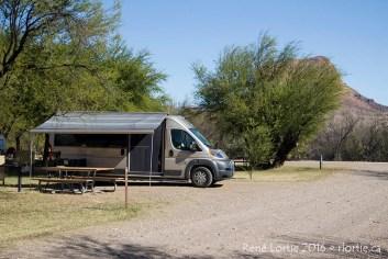 Le campeur à Cottonwood - Pour toi Gaétan, une photo de mon Safari Condo dans lequel je vis et... voyage ;-)