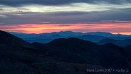 Dantes View à l'aube en regardant vers l'Est.