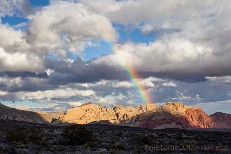 L'arc-en-ciel de Red Rock Canyon