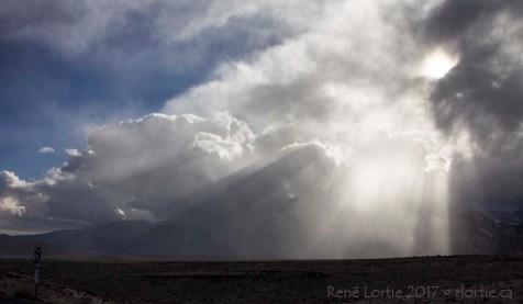 Le ciel de notre arrivée à Red Rock Canyon