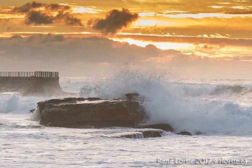 Coucher de soleil sur le Pacifique à La Jolla