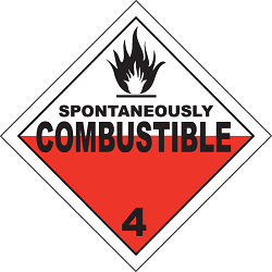 class 4 spontaneously combustible
