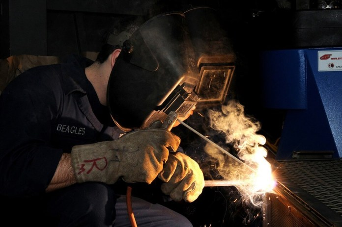 Welding picture with safety