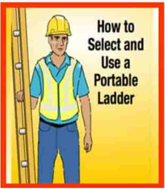 Ladder safety toolbox topic