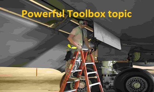 Poratable ladder toolbox talk