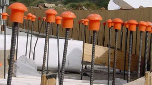 Rebar safety cap in details