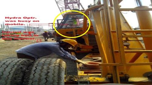 Hydra mobile crane safety