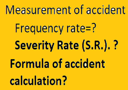 Accident measurement formila Severity rate