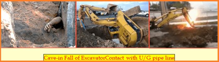 Hazards associated with excavation