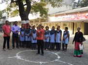 Physical Efficiency Women Test at College Ground.